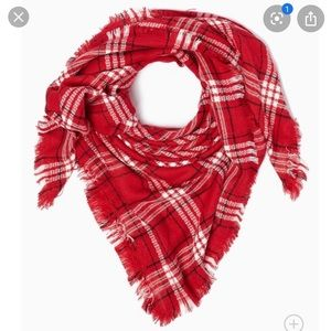 Charming Charlie Red Blanket Scarf